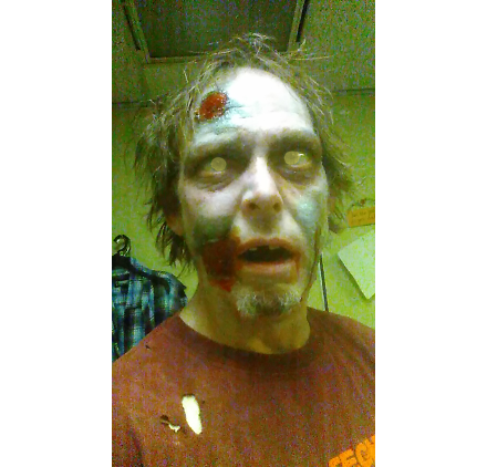 Me in zombie makeup