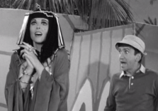 Ginger acting a scene as Gilligan rushes onstage